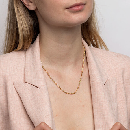 """45cm (18"""") Hollow Rope Chain in 10kt Yellow Gold"""