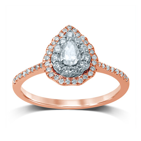 Ring with 1/2 Carat TW of Diamonds in 14kt Rose & White Gold
