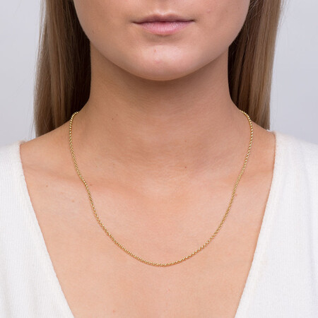"""50cm (20"""") Hollow Rolo Chain in 10kt Yellow Gold"""
