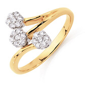Ring with 1/4 Carat TW of Diamonds in 10kt Yellow & White Gold
