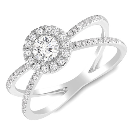 Ring with 0.55 Carat TW of Diamonds in 10kt White Gold