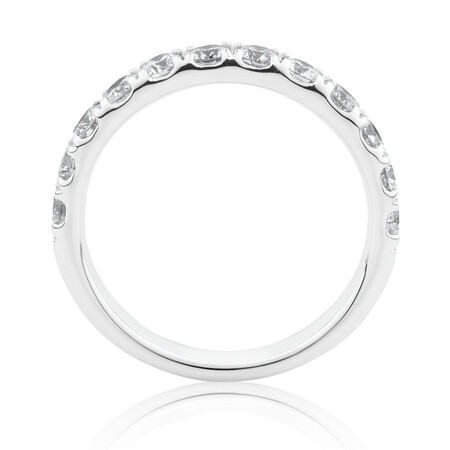 Evermore Wedding Band with 1 Carat TW Diamonds in 14ktWhite Gold