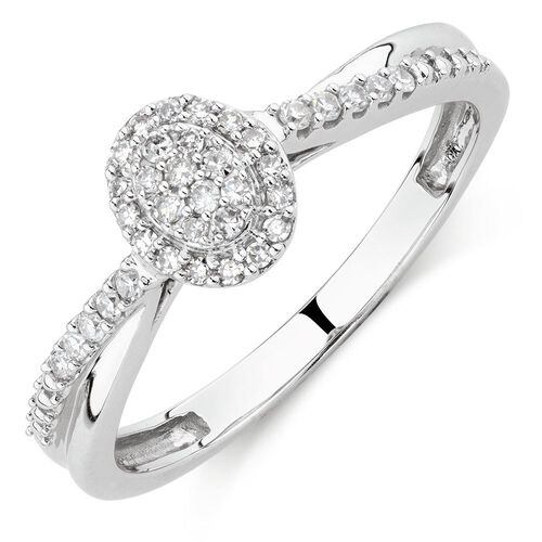 Promise Ring with 0.15 Carat TW of Diamonds in 10kt White Gold