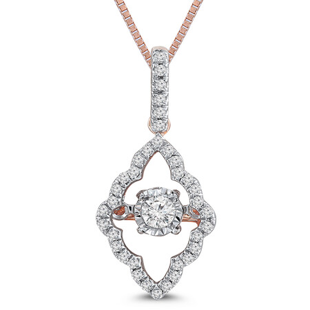 Everlight Pendant with 0.20 Carat TW of Diamonds in 10kt Rose Gold