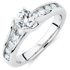 Online Exclusive - Engagement Ring with 0.95 Carat TW of Diamonds in 14kt White Gold