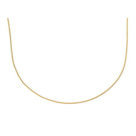 """55cm (21.5"""") Curb Chain in 10kt Yellow Gold"""