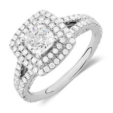 Sir Michael Hill Designer GrandArpeggio Engagement Ring with 1.95 Carat TW of Diamonds in 14kt White Gold