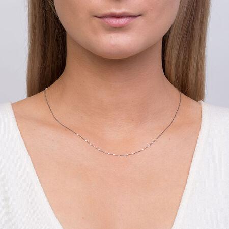 "45cm (18"") Box Chain in 10kt White Gold"