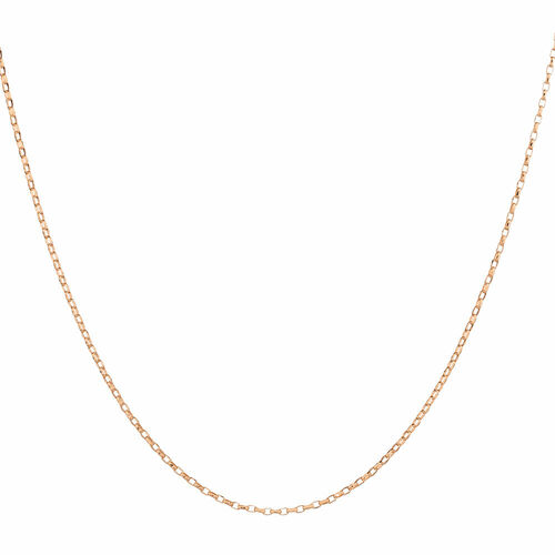 """45cm (18"""") Solid Rolo Chain in 10kt Rose Gold"""