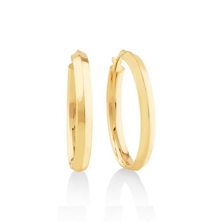 25mm Hoop Earrings In 10kt Yellow Gold