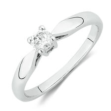 Solitaire Promise Ring with a 0.20 Carat Diamond in 10kt White Gold