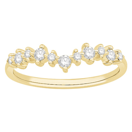 Tiara Ring with 0.25 Carat TW of Diamonds in 10kt Yellow Gold