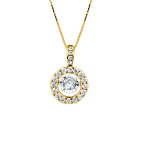Everlight Pendant with 1 Carat TW of Diamonds in 14kt Yellow Gold