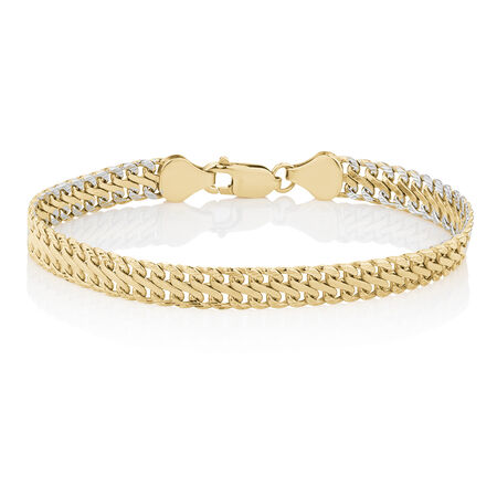 "19cm (7.5"") Fancy Bracelet in 10kt Yellow Gold"