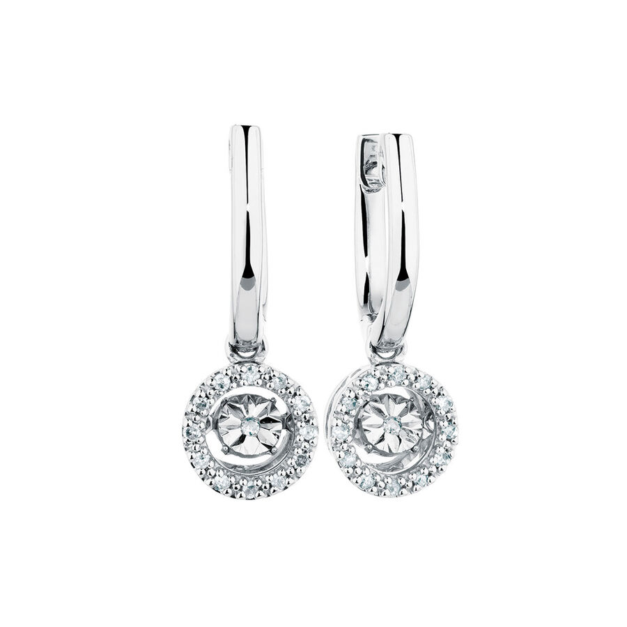 Everlight Earrings with 1/4 Carat TW of Diamonds in Sterling Silver