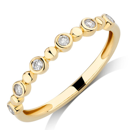 Bubble Ring with 0.12 Carat TW of Diamonds in 10kt Yellow Gold