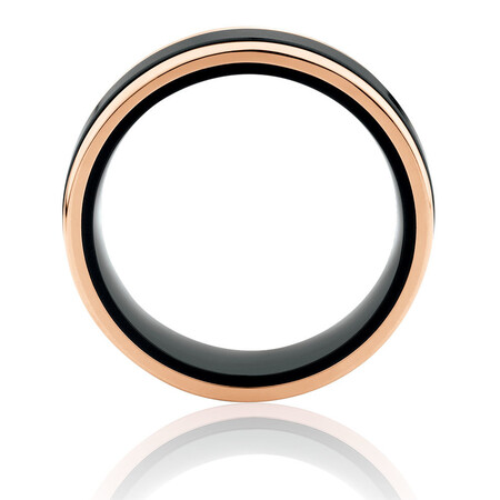 Ring in Black Titanium & 10kt Rose Gold