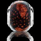 Amber Snake Print Murano Glass Charm