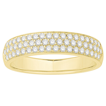 Multi Row Wedding Ring with 0.34 Carat TW of Diamonds in 14kt Yellow Gold