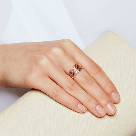 Filigree Ring in 10kt Rose Gold