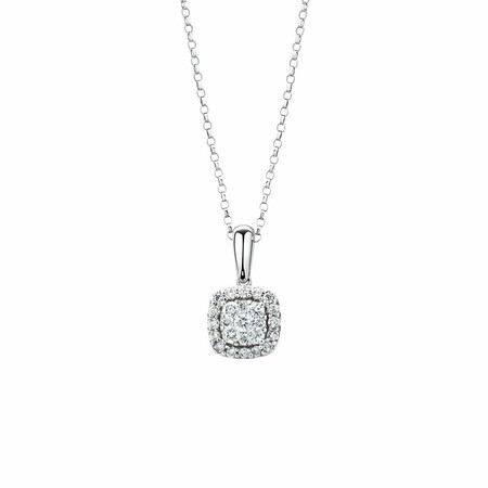 Pendant with 1/3 Carat TW of Diamonds in 10kt White Gold