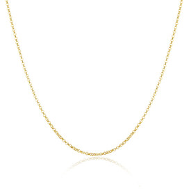 "80cm (32"") Hollow Rolo Chain in 10kt Yellow Gold"