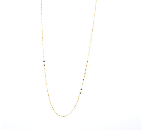 45cm Mirror Chain in 10kt Yellow Gold