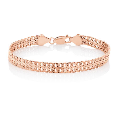 "19cm (7.5"") Fancy Bracelet in 10kt Rose Gold"