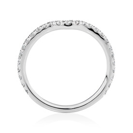 Sir Michael Hill Designer Aria Wedding Band with 0.27 Carat TW of Diamonds in 14kt White Gold