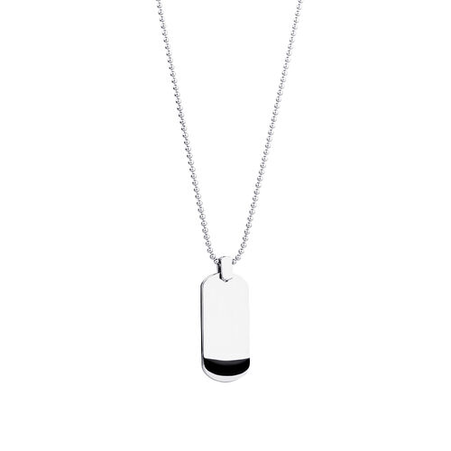 """55cm (22"""") Dog Tag Pendant in Sterling Silver"""