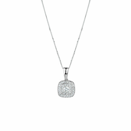 Whitefire Pendant with 0.34 Carat TW of Diamonds in 18kt White Gold & 22ct Yellow Gold