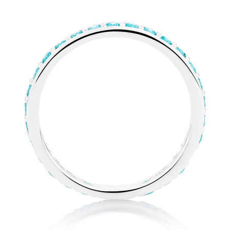 Aqua Cubic Zirconia Stack Ring
