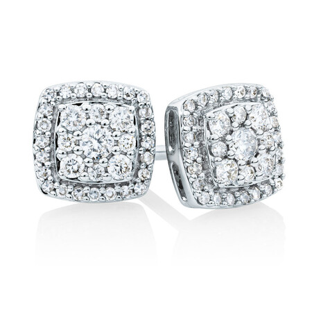 Stud Earrings With 0.34 Carat TW Of Diamonds In 10kt White Gold