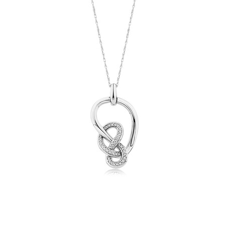 Medium Knots Pendant with 0.19 Carat TW of Diamonds in Sterling Silver