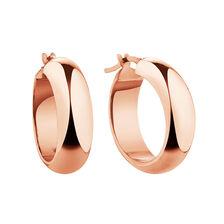 19mm Hoop Earrings in 10kt Rose Gold