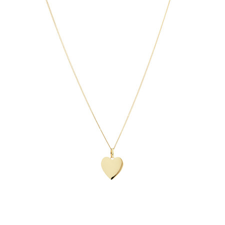 Small Heart Pendant in 10kt Yellow Gold