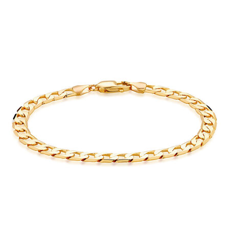 "Men's 21cm (8.5"") Curb Bracelet in 10kt Yellow Gold"