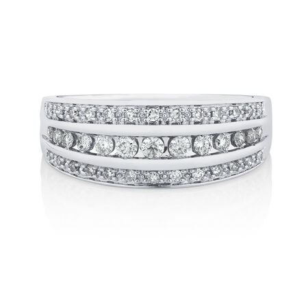 Ring with 0.34 Carat TW of Diamonds in 10kt White Gold