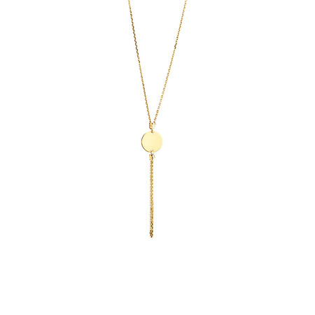 Tassle Drop Necklace in 10kt Yellow Gold
