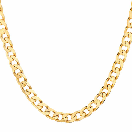 """55cm (22"""") Solid Curb Chain in 10kt Yellow Gold"""