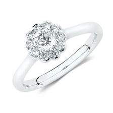 Southern Star Engagement Ring with 1/2 Carat TW of Diamonds in 14kt White Gold