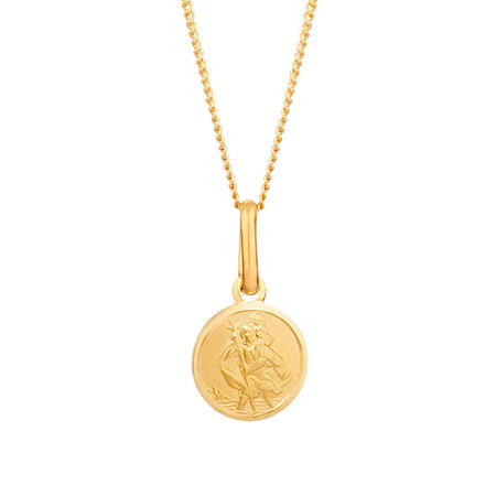 Online Exclusive - St Christopher Pendant in 10kt Yellow Gold