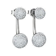 Stud & Enhancer Earrings with Cubic Zirconia in Sterling Silver