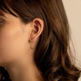 Oval Hoop Earrings in 10kt Yellow Gold