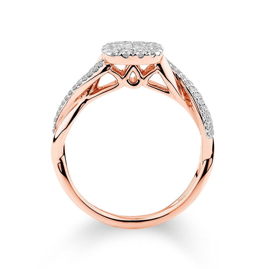 Evermore Engagement Ring with 0.50 Carat TW of Diamonds in 14kt Rose Gold