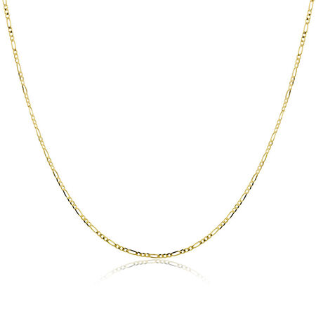 "60cm (24"") Solid Figaro Chain in 10kt Yellow Gold"