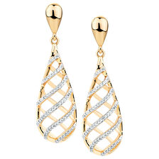 Drop Earrings with 0.32 Carat TW of Diamonds in 10kt Yellow Gold
