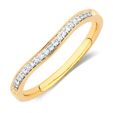 Wedding Band with Diamonds in 18kt Yellow Gold