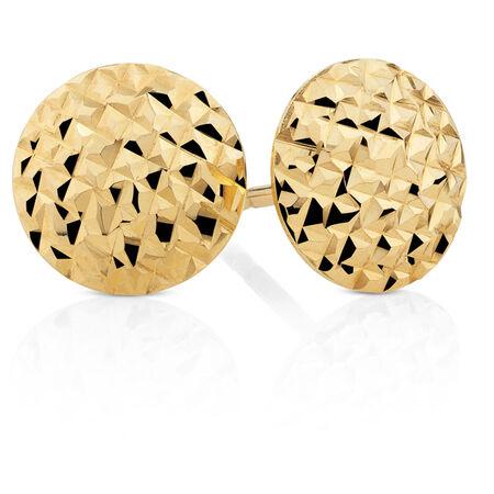 8mm Stud Earrings in 10kt Yellow Gold