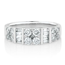 Online Exclusive - Wedding Band with 1.01 Carat TW of Diamonds on 14kt White Gold